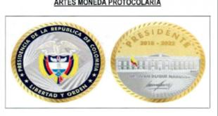 Gobierno firmó contrato para crear 1.409 monedas recubiertas en oro